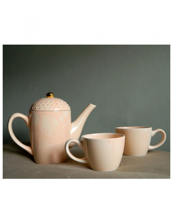 Miss Peach Teapot and tea cups set