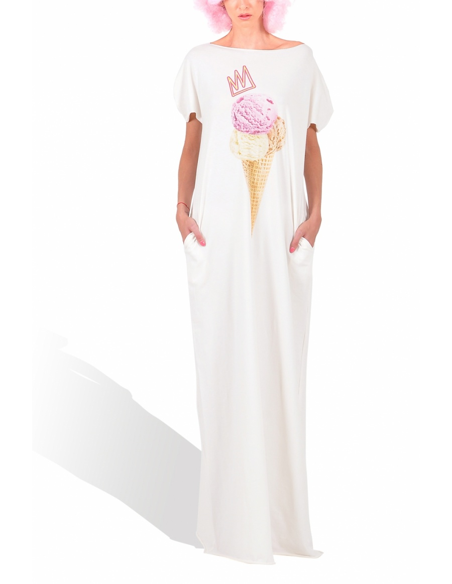 Princely Royal IceCream full-lenght T-shirt in Whip Cream