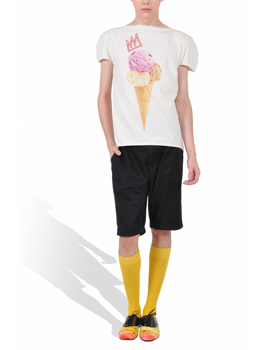 Princely Royal IceCream T-shirt in Whip Cream