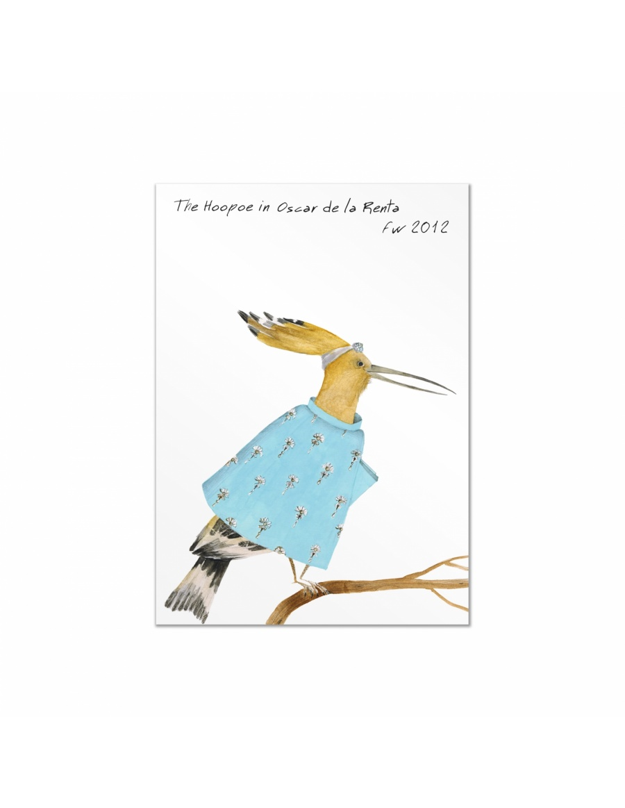 Fashion Birds postcards set #1