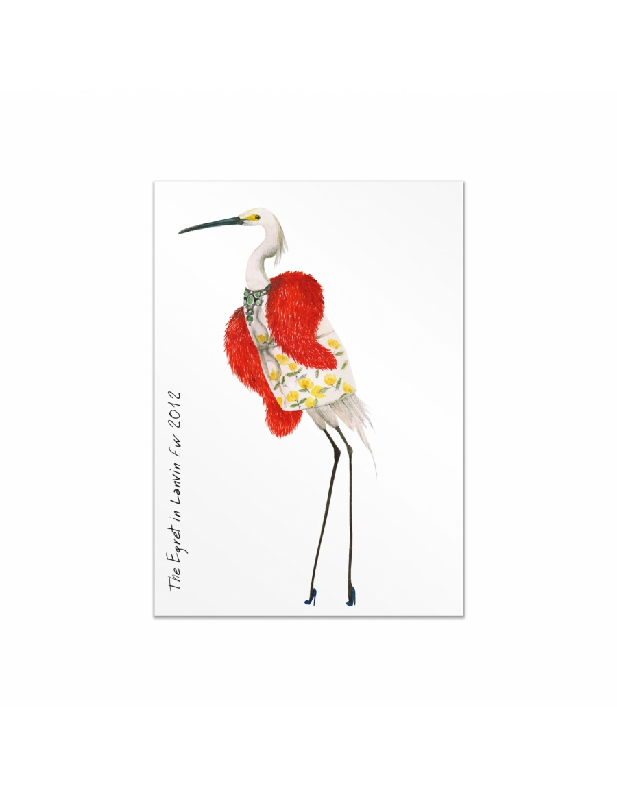 Fashion Birds postcards set #2
