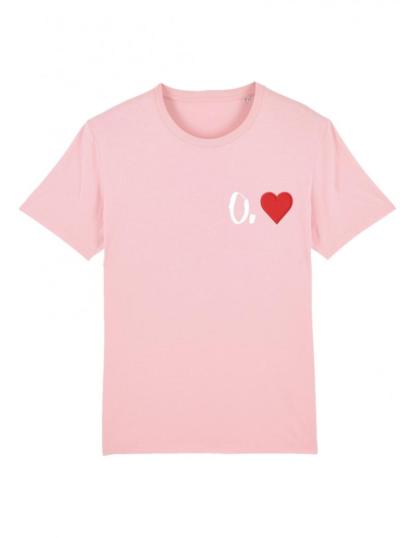O. heart T-shirt - white writing
