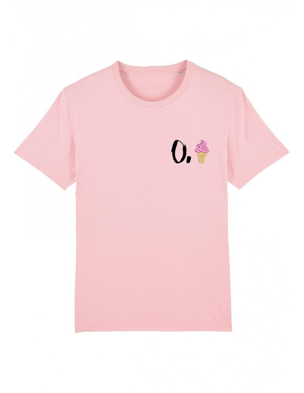 O. ice cream T-shirt - black writing