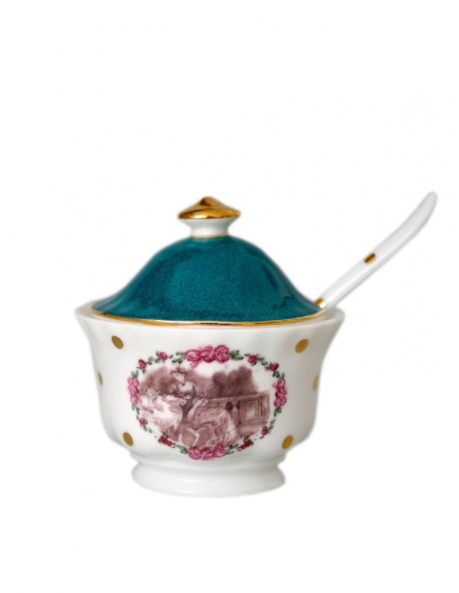 Sugar Bowl with teaspoon