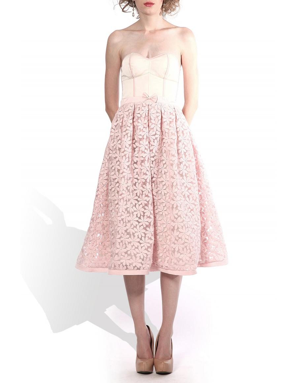 Corset organza dress