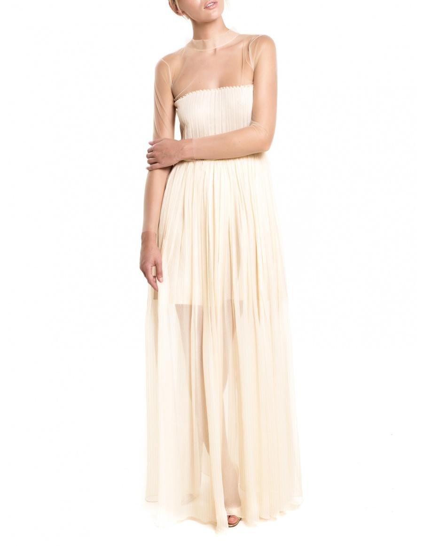 Silk crinkled chiffon dress