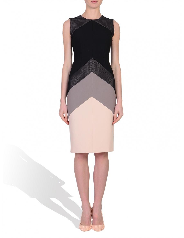 Pink geometry dress