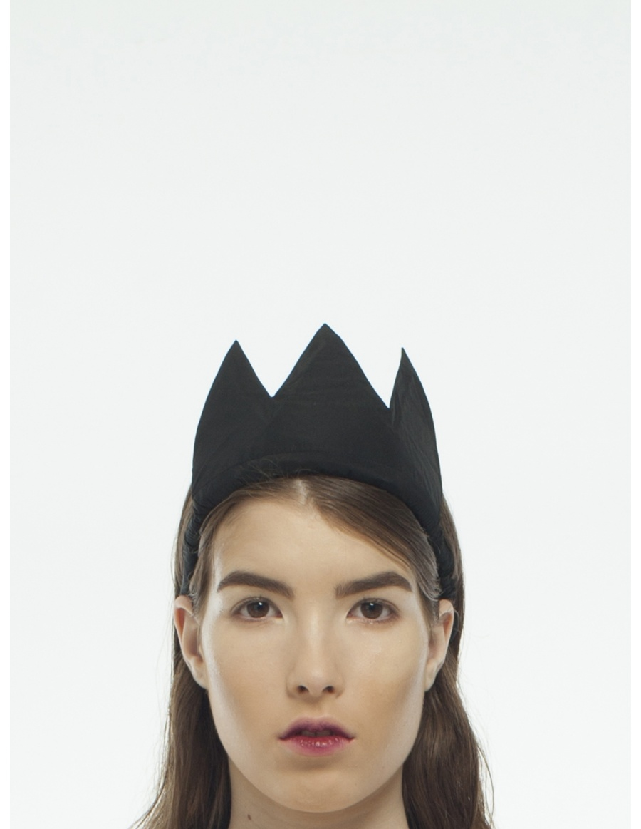 Black Taffeta Crown