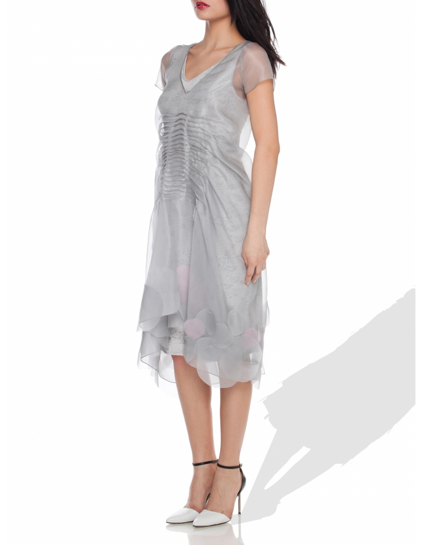 Grey organza dress