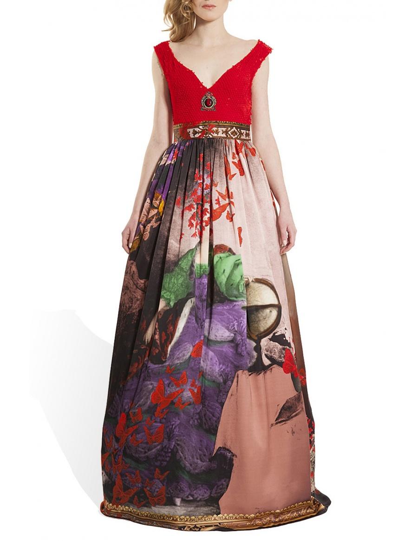 Silk long gown