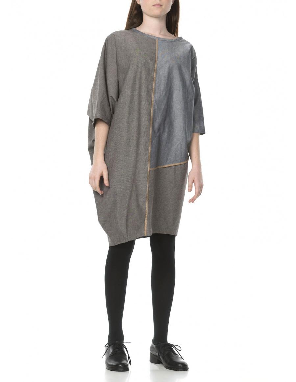 Asymmetric grey dress