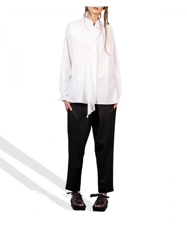 Shirt with tunic collar