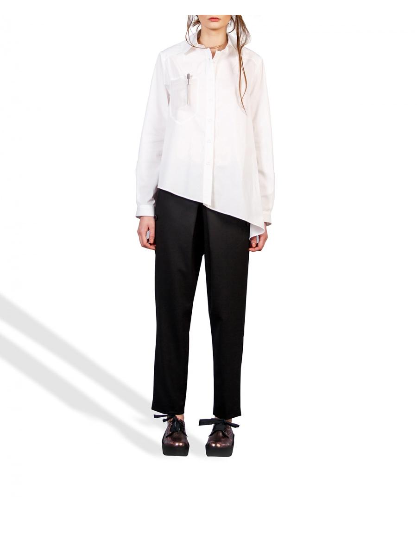 Shirt with transparent pocket