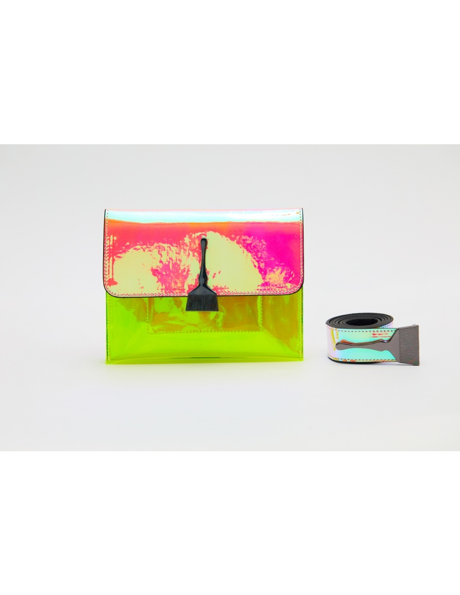 Reflective and Transparent Pink and Neon Bag
