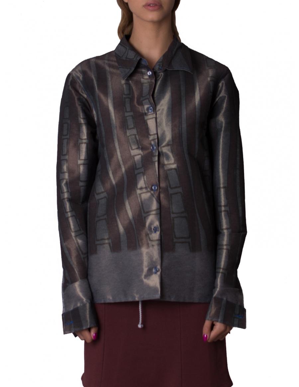 Long sleeve shirt with digital print