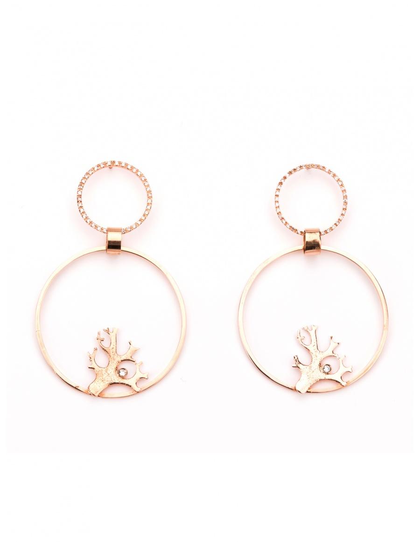 Lichen Shape Bling earrings