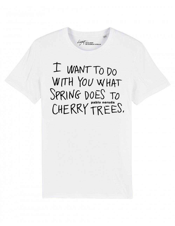 CHERRY TREES on SS Tee   Skin Deep