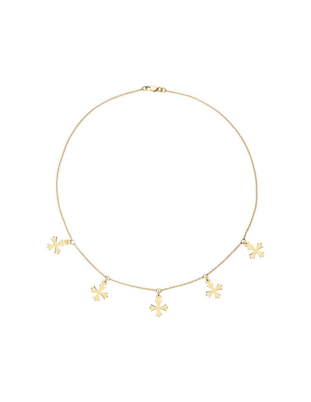 Choker Crosses Necklace