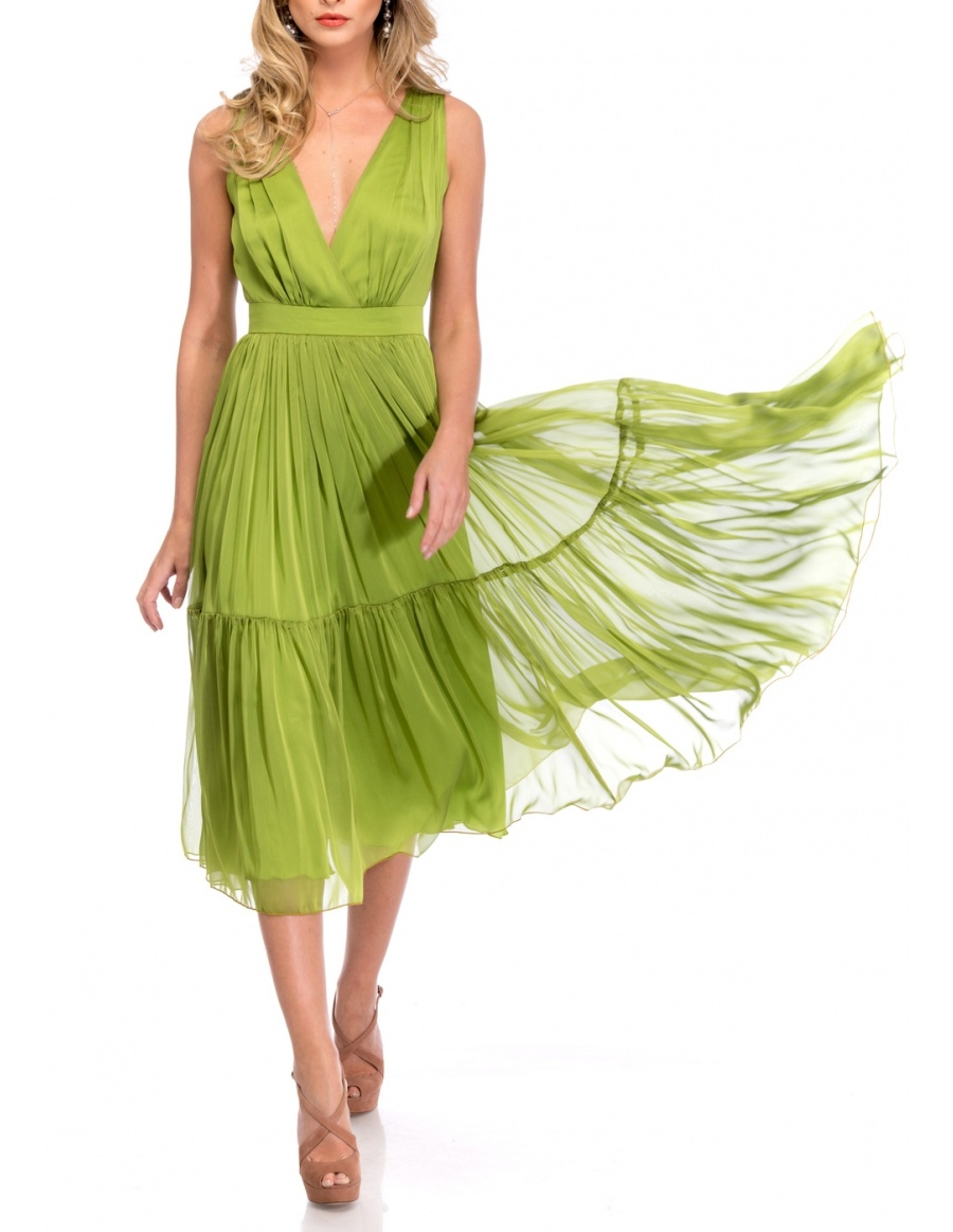 LIME MIDI DRESS | Cloche