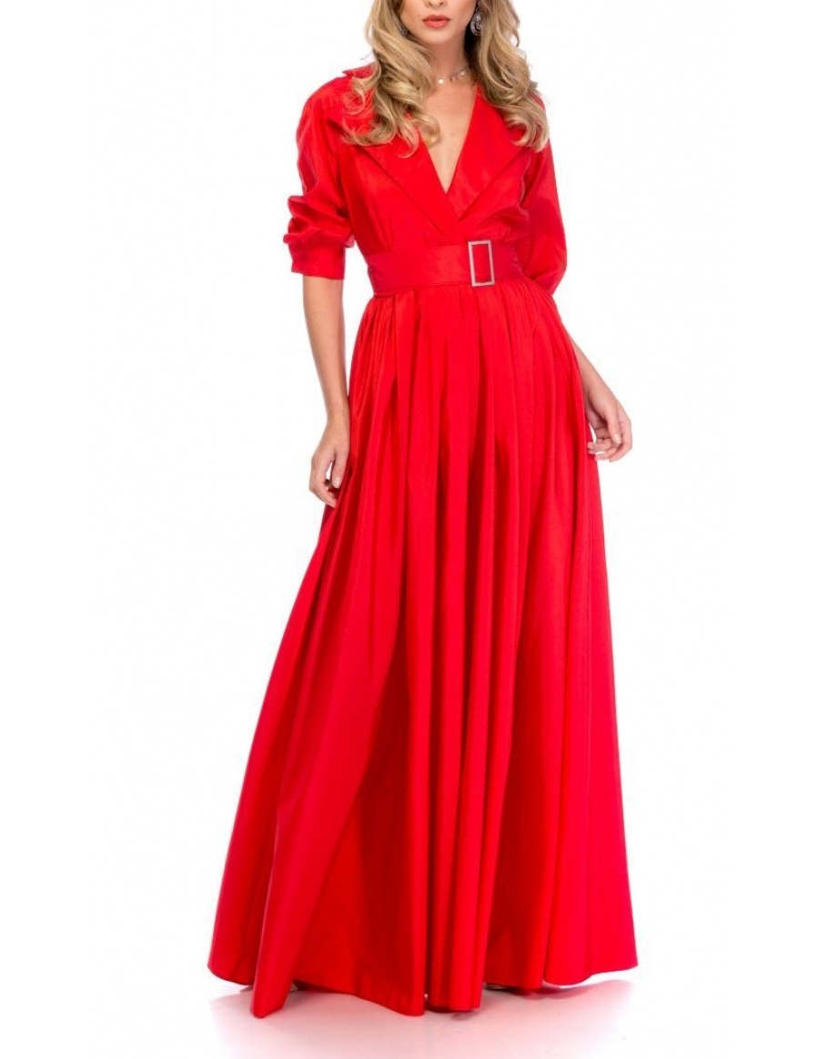 BLACKTIE TRENCH RED DRESS | Cloche