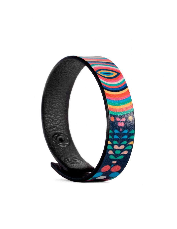 Leather bracelet Over the rainbow
