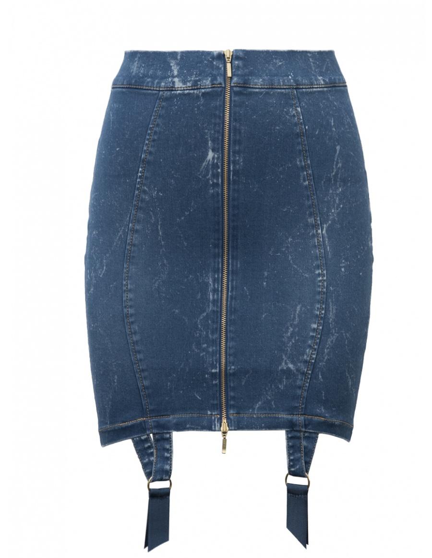 Denim Candy Skirt Blue