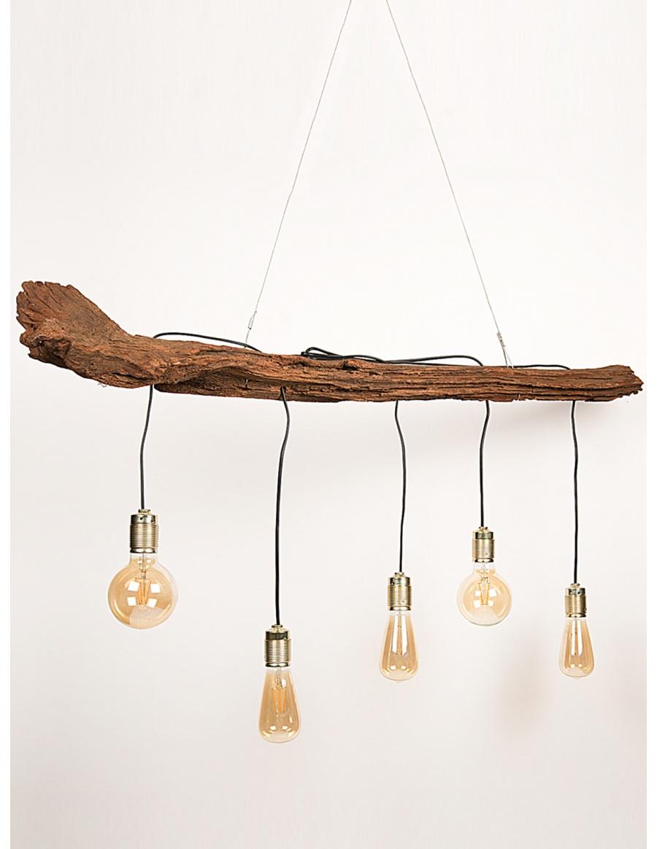 Driftwood hanged lamp