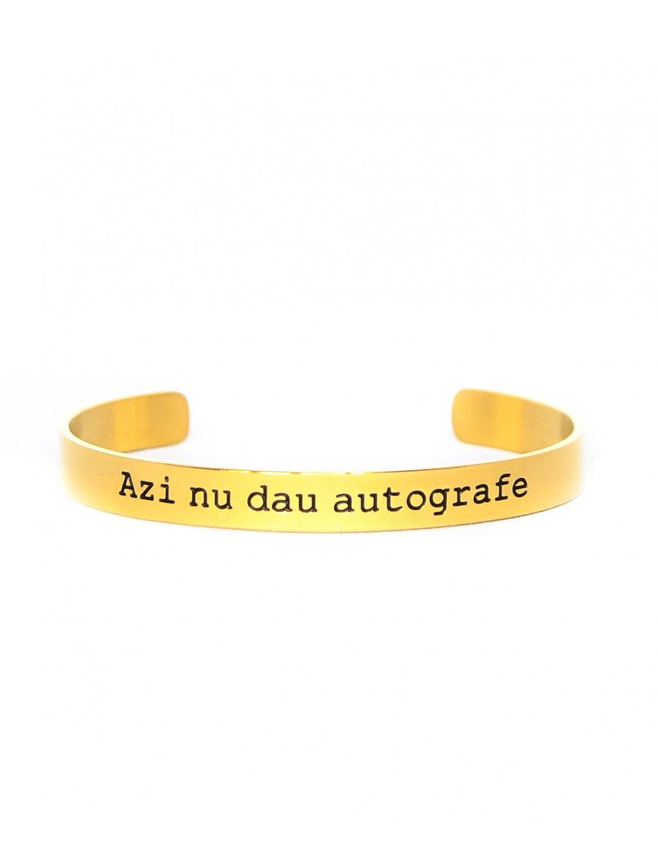 Azi nu dau autografe Gold Bracelet