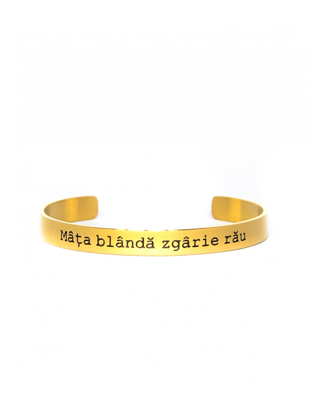 Mata blanda zgarie rau Gold Bracelet