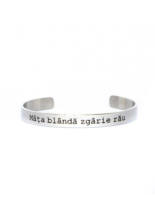 Mata blanda zgarie rau Silver Bracelet