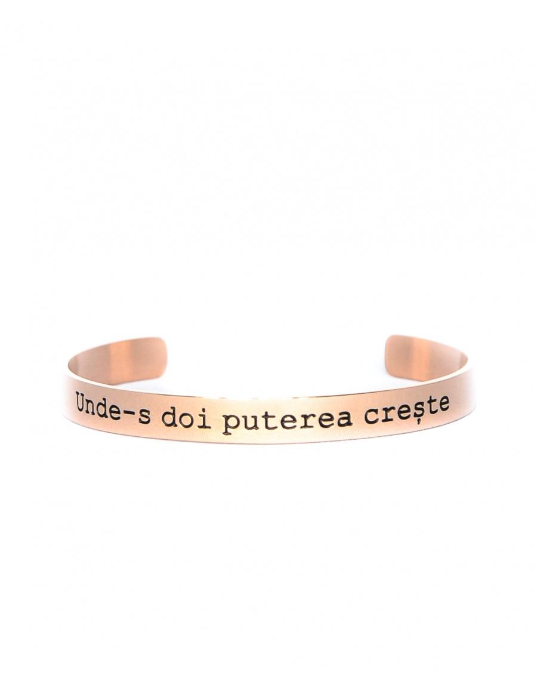 Unde-s doi puterea creste Gold Rose Bracelet