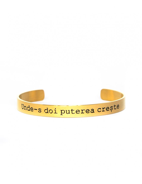 Unde-s doi puterea creste Gold Bracelet