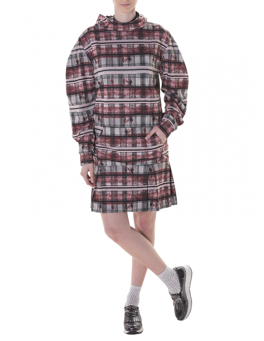 Oz Check hoodie dress