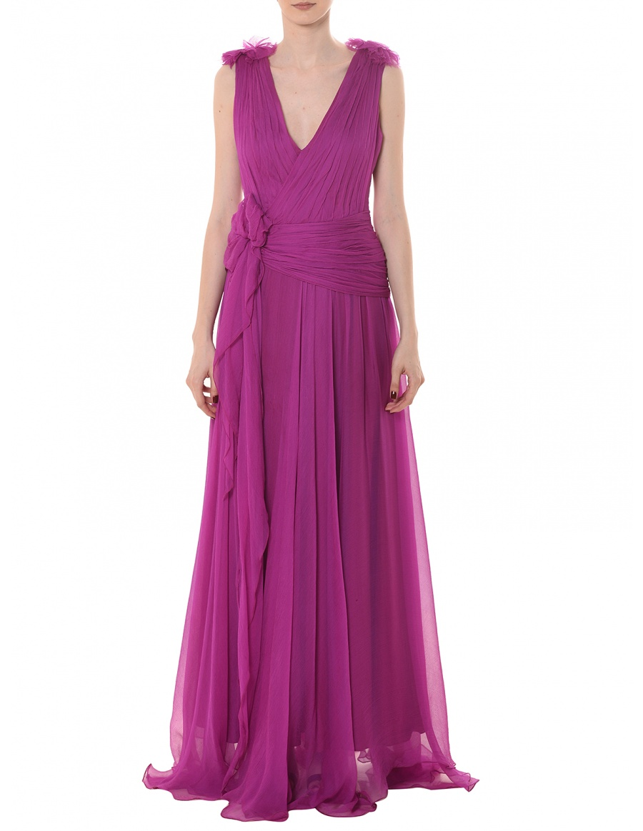 Ema silk georgette gown