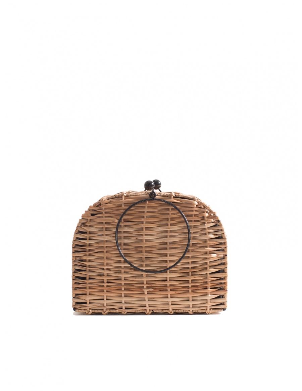 Espresso Wicker Bag Short