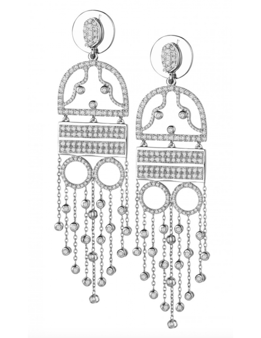 """Women in evening dress"" Earrings"