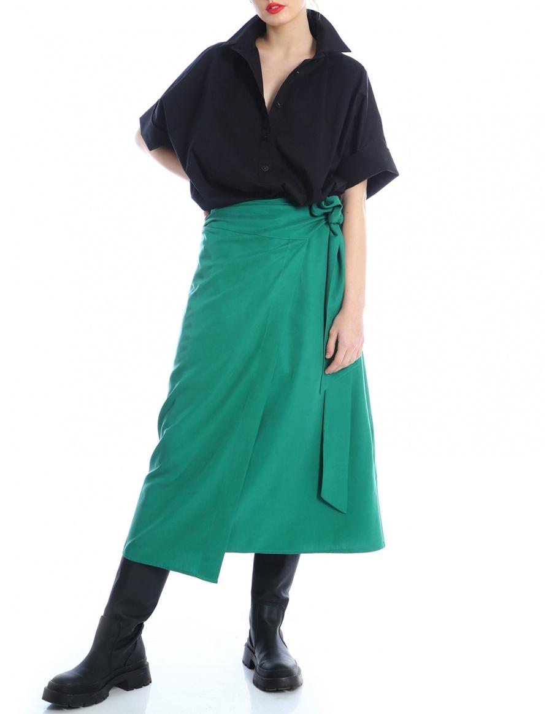 Overlaid tencel skirt