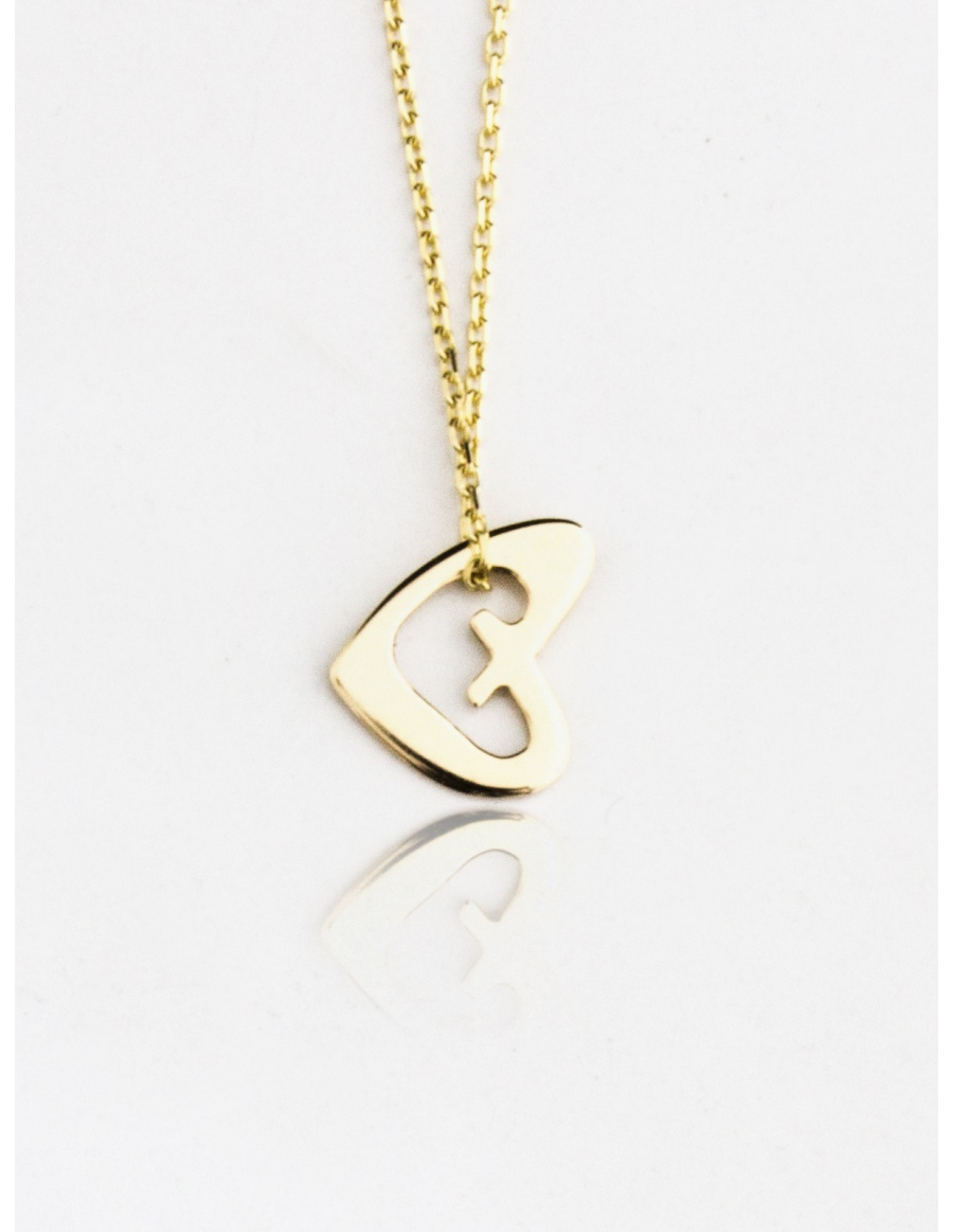Heart Gold Necklace by Skindeep x Moogu