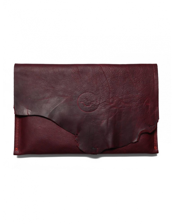 Leather laptop sleeve - bordo