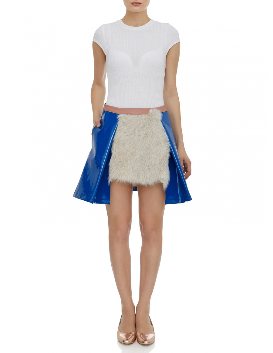 Short skirt with fur #2