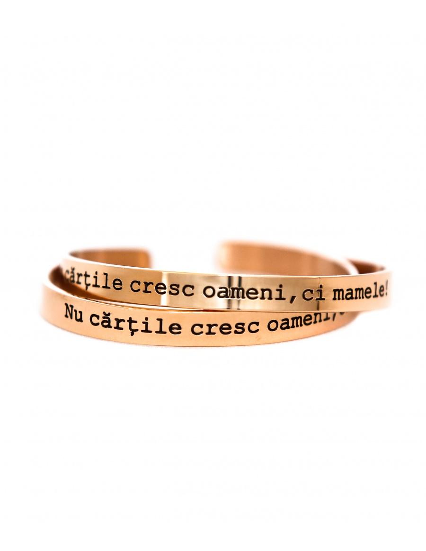 Nu cartile cresc oameni, ci mamele Rose Gold Bracelet