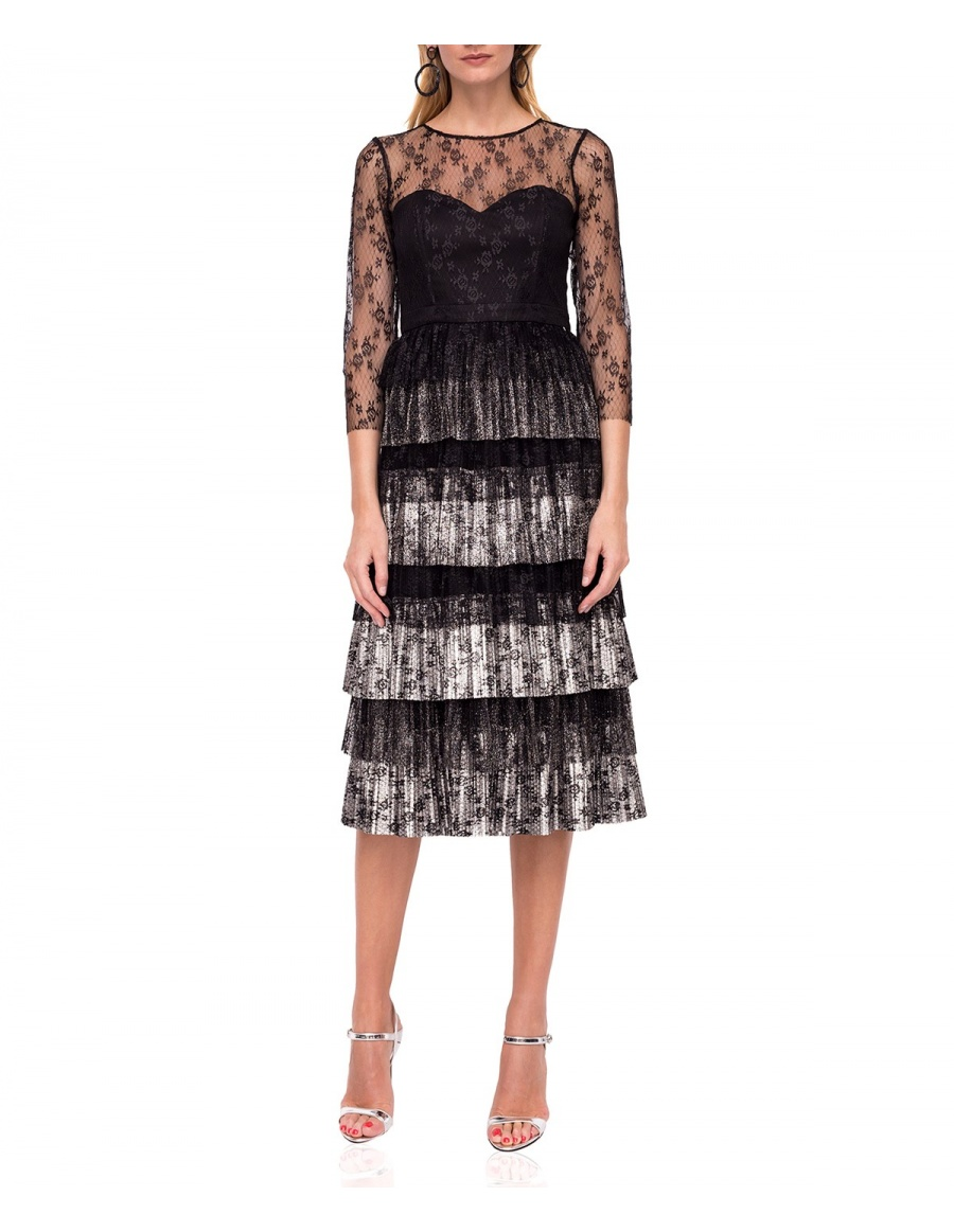 Elegant midi lace dress