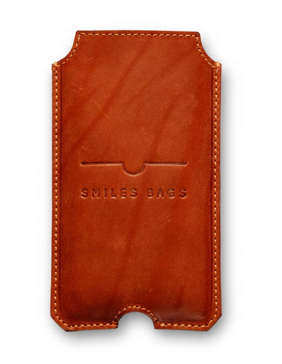 Leather iPhone 6 case - brown