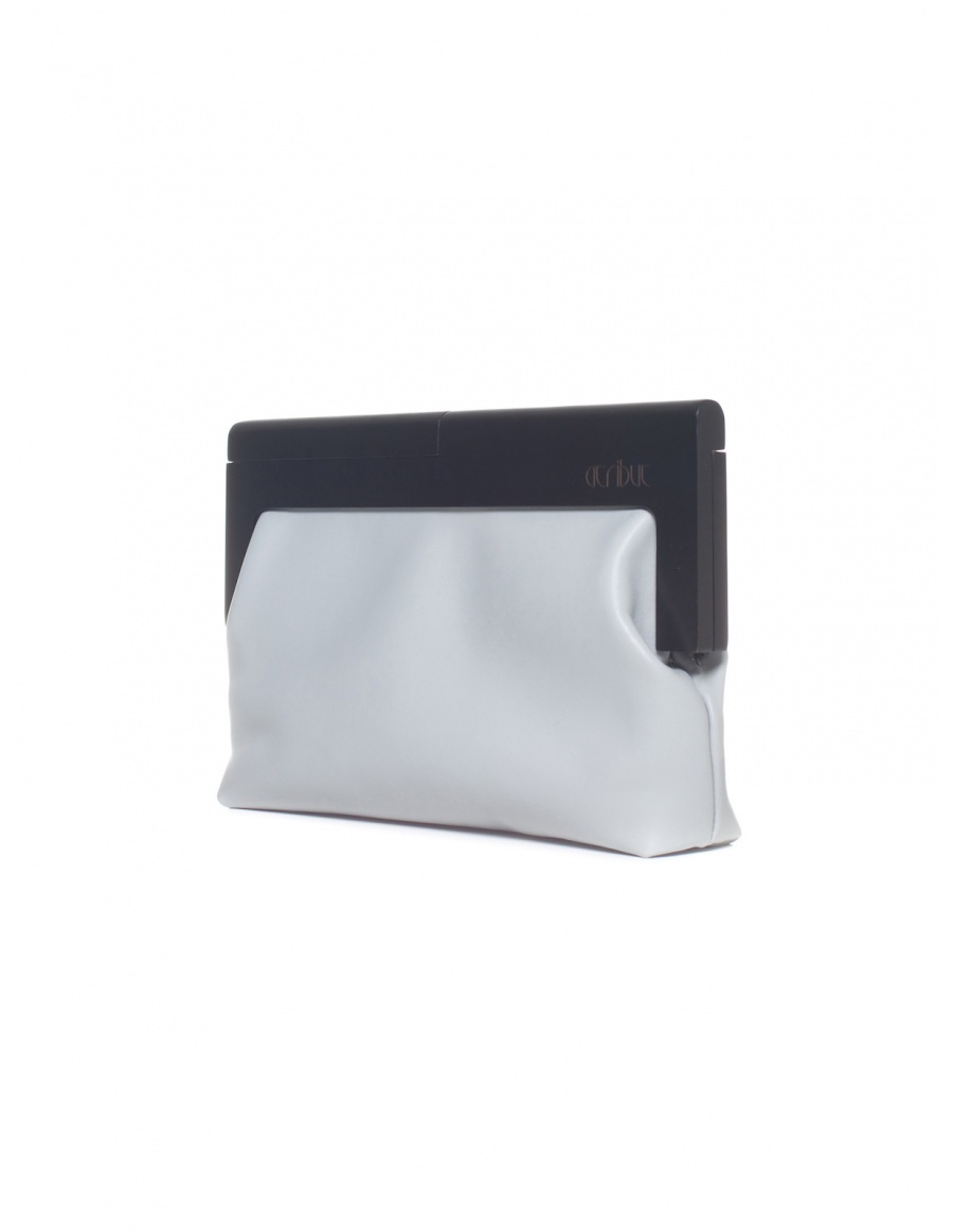Light grey and black clutch