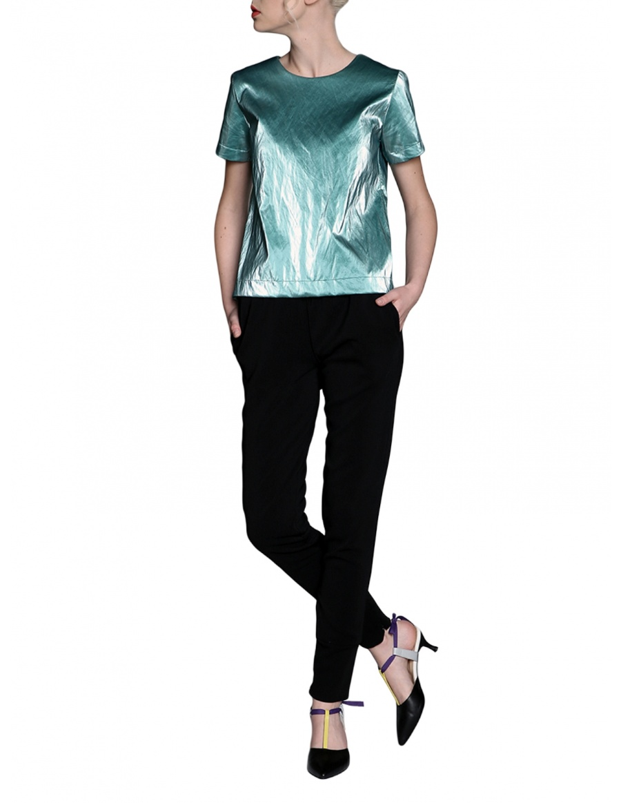 Wet look top | Silvia Serban