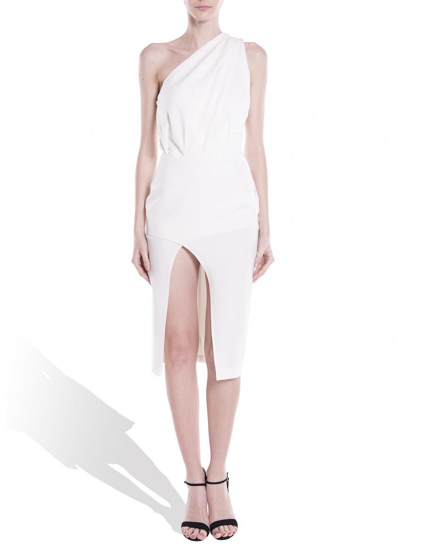White dress on a shoulder