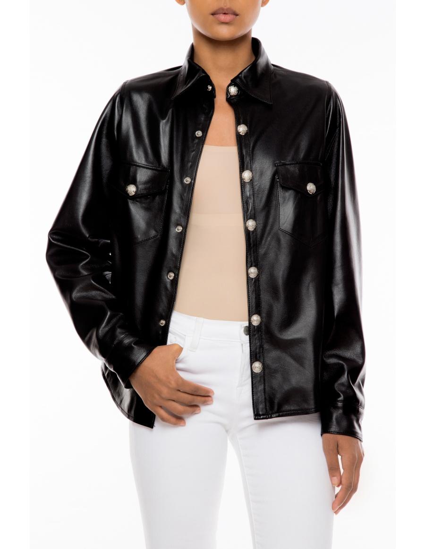 Jamie leather shirt
