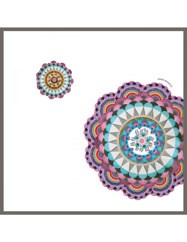 White Mandala scarf