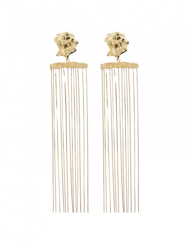 Long Chain Snail Earrings