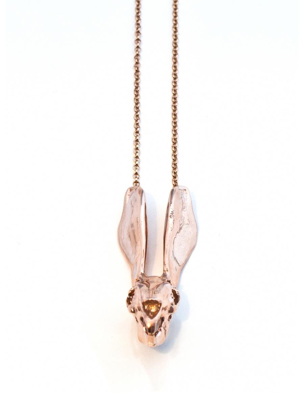 Rabbit necklace rose